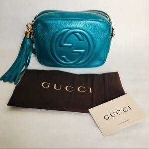 🔥Gucci Rare Metallic teal crossbody bag